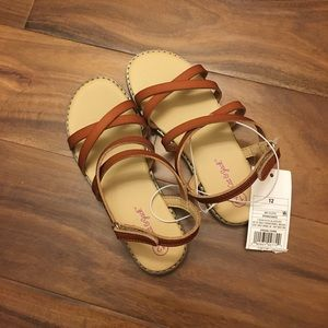 Girls Cat & Jack brown sandals. New in box!